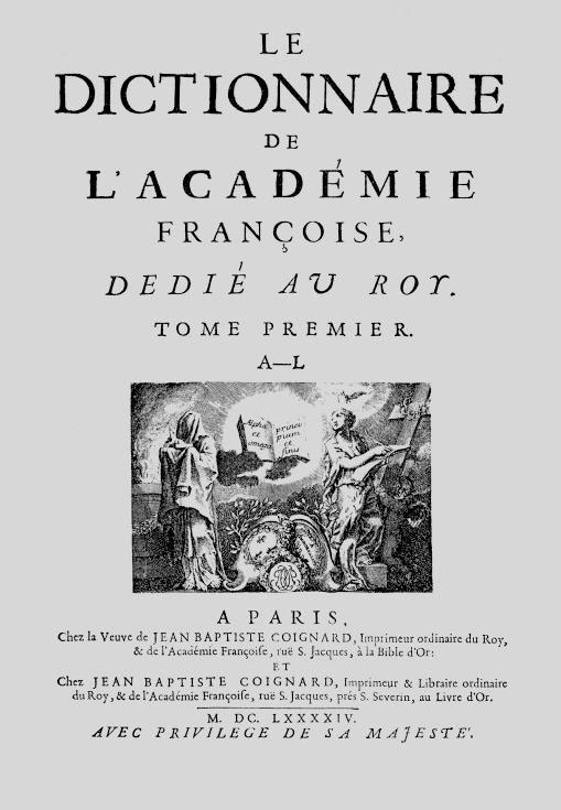 Acad mie fran aise - Dictionnaire de l office de la langue francaise ...