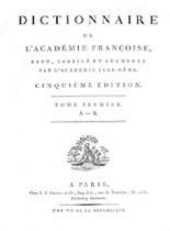 Dictionnaire de l'académie française 1798 - 5ème édition